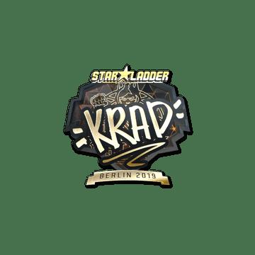 Sticker   Krad (Gold)   Berlin 2019