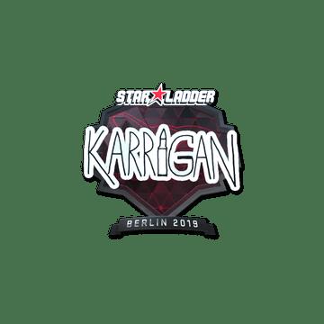 Sticker | karrigan (Foil) | Berlin 2019