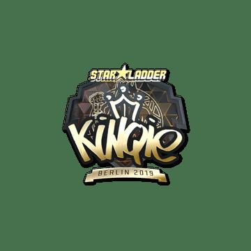 Sticker | kinqie (Gold) | Berlin 2019