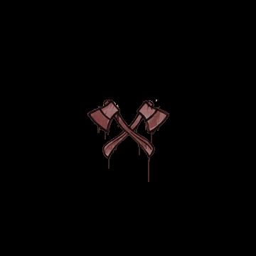 Sealed Graffiti | X-Axes (Brick Red)