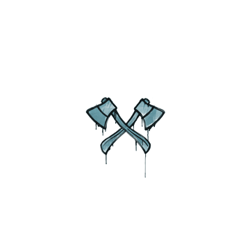 Sealed Graffiti | X-Axes (Wire Blue)