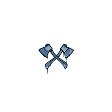Sealed Graffiti   X-Axes (Monarch Blue)