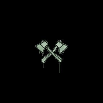 Sealed Graffiti | X-Axes (Cash Green)