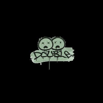 Sealed Graffiti | Double (Cash Green)
