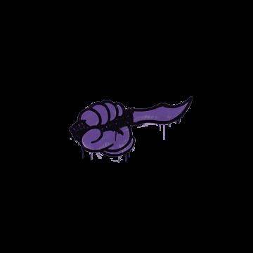 Sealed Graffiti   Backstab (Monster Purple)