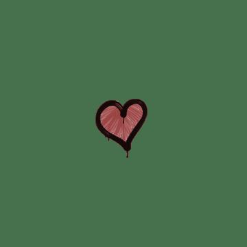 Sealed Graffiti | Heart (Blood Red)