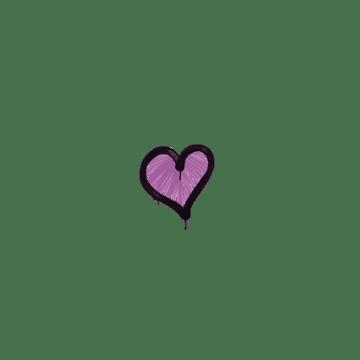 Sealed Graffiti   Heart (Bazooka Pink)