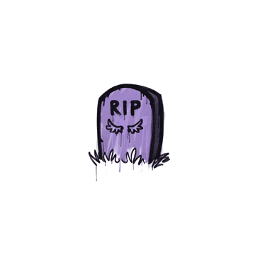 Sealed Graffiti | Tombstone (Violent Violet)