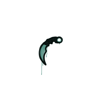 Sealed Graffiti | Karambit (Frog Green)
