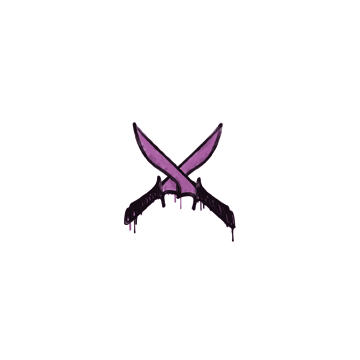 Sealed Graffiti   X-Knives (Bazooka Pink)