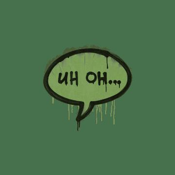 Sealed Graffiti | Uh Oh (Battle Green)