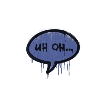 Sealed Graffiti | Uh Oh (SWAT Blue)