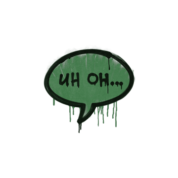 Sealed Graffiti | Uh Oh (Jungle Green)