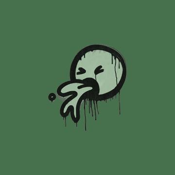 Sealed Graffiti | Puke (Cash Green)