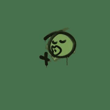 Sealed Graffiti   Smooch (Battle Green)