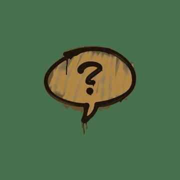 Sealed Graffiti   Question Mark (Desert Amber)