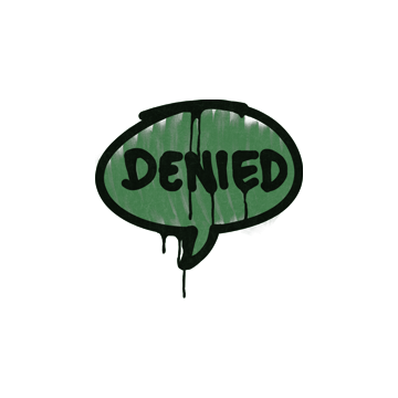 Sealed Graffiti | Denied (Jungle Green)