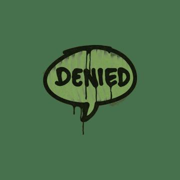 Sealed Graffiti | Denied (Battle Green)