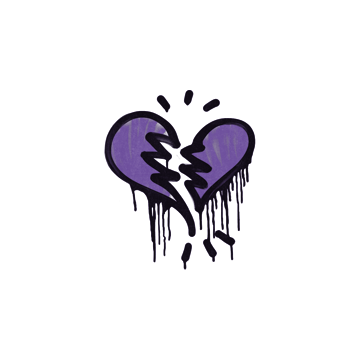 Sealed Graffiti | Broken Heart (Monster Purple)
