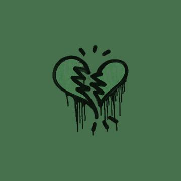 Sealed Graffiti | Broken Heart (Jungle Green)