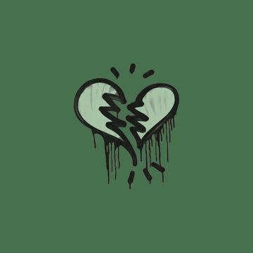 Sealed Graffiti | Broken Heart (Cash Green)