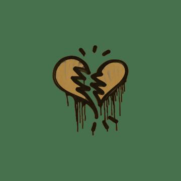 Sealed Graffiti   Broken Heart (Desert Amber)