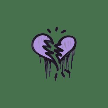 Sealed Graffiti | Broken Heart (Violent Violet)