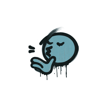Sealed Graffiti | Chef Kiss (Wire Blue)