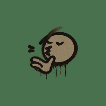 Sealed Graffiti | Chef Kiss (Dust Brown)