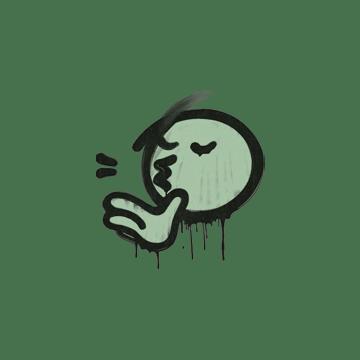 Sealed Graffiti | Chef Kiss (Cash Green)