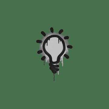 Sealed Graffiti | Lightbulb (Shark White)