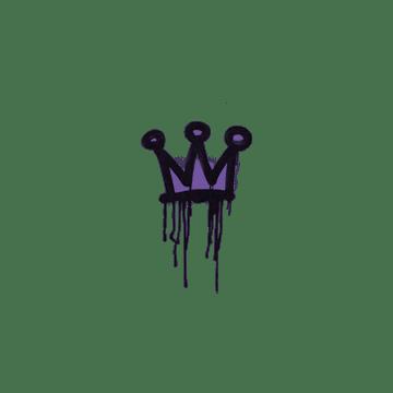 Sealed Graffiti | Little Crown (Monster Purple)