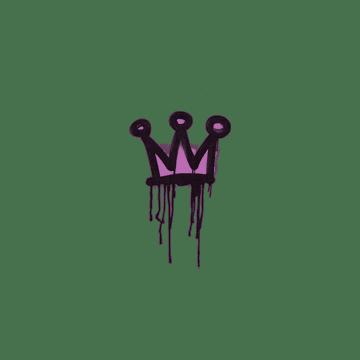 Sealed Graffiti | Little Crown (Bazooka Pink)