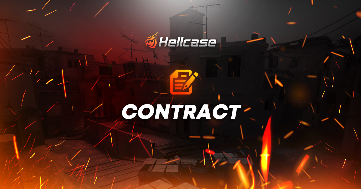 Contract on Hellcase - use few skins and get better one
